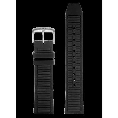 Black Silicone Strap
